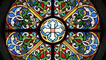 La Rosace de l'église Saint Goëric à HOUDEMONT