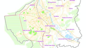 Les 20 communes du Grand Nancy