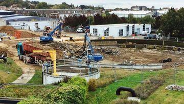 Les travaux ont commencé sur le site de la station d'épuration pour une durée de deux ans.