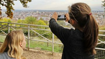 Panorama depuis le parc de la Cure d'air à Nancy