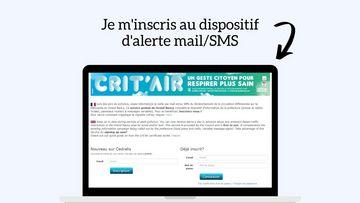Inscription en ligne au dispositif d'alerte mail/SMS