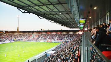 Tribunes du stade Marcel Picot à Tomblaine